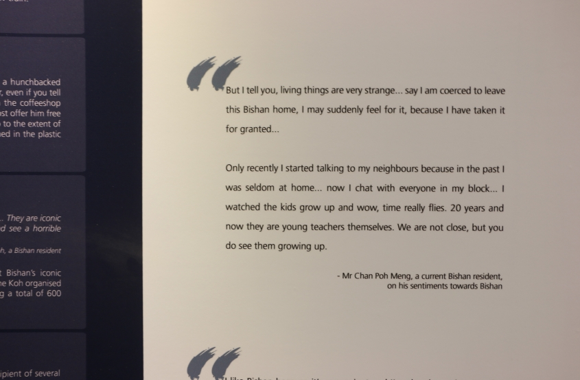 One of the many quotes and stories shared on the exhibition panels.