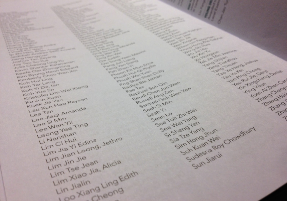 """""""....name, applause, name, applause, nameapplause…"""" — There were a few hundred names. We just kept on clapping."""