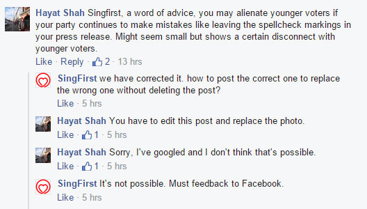 "SingFirst seems to enjoy ""feedbacking"" to authorities. Retrieved from Mothership."
