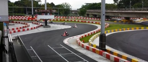 Gokarting at KF1's circuit