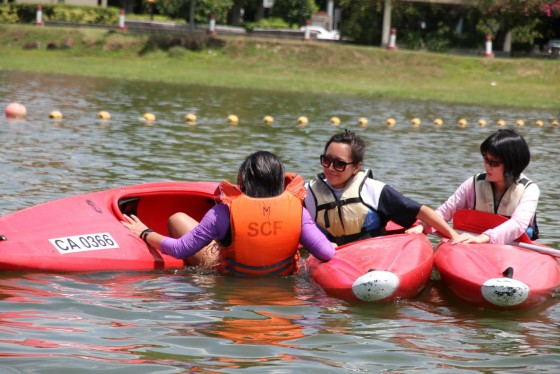 Kayaking course organized by the Singapore Canoe Federation