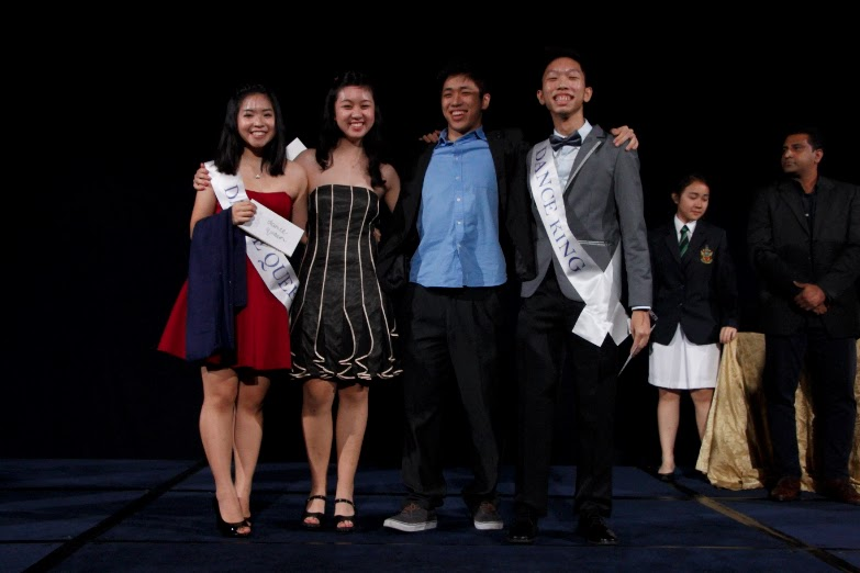 Our Dance King and Queen Nominees! (From left: Eunice Huang, Yvette Lin, David Wang and Choong Ting Wei)