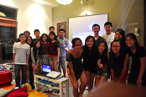 YCL members at a film night. (Photo: Facebook)