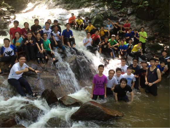 Primers from different Singapore schools at Primers Challenge 2016 in Perak, Malaysia: Having fun after waterfall abseiling!