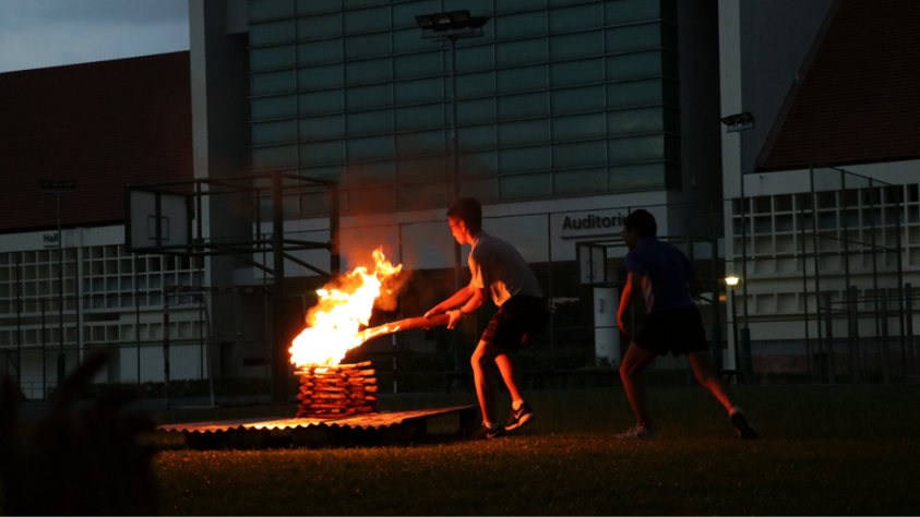 Lighting the campfire at Leaders Retreat 2016