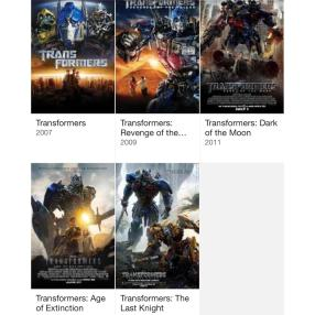 Michael Bay's Transformer series:. Completely unfazed by the negative response from film critics, Michael Bay had expressed his intentions to create more Transformer films in the future. Coincidentally, this franchise also has its 5th installation planned to be released this year.
